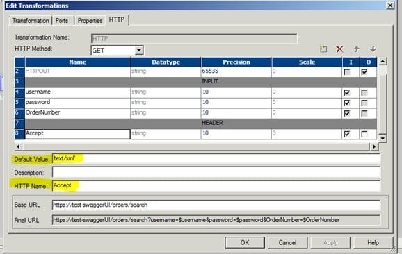 Header Parameter Settings