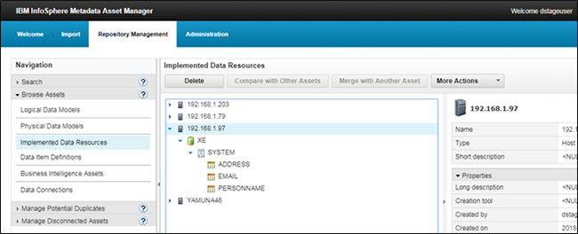 IBM Infosphere Metadata Asset Manager