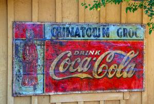 old coke sign
